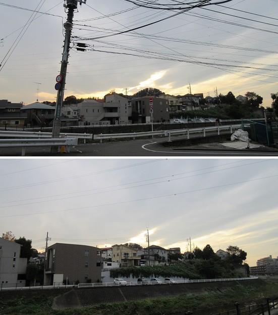関戸城(多摩市)北東、大栗橋より