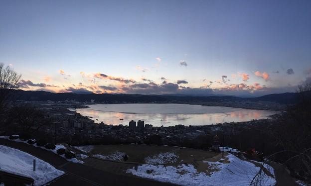 Photos: 17.01.24.17:01 諏訪湖(諏訪市営 立石公園)P