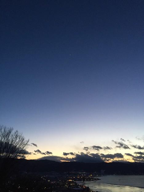 Photos: 17.01.24.17:29 諏訪湖(諏訪市営 立石公園)
