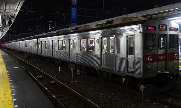東武スカイツリーラインを走る東急電鉄8500系