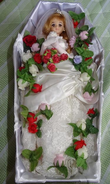 ウェディングドレス(ローズリエール)を着たジェニー(J1)(棺桶型ケース)