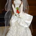 ウェディングドレス(ローズリエール)を着たシオン