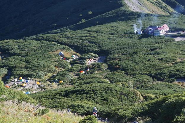 三俣山荘とテン場