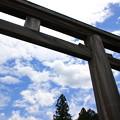 写真: 吉野神宮の鳥居(2016年6月)