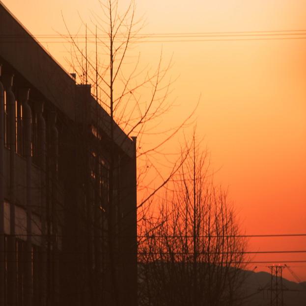二月 last sunset