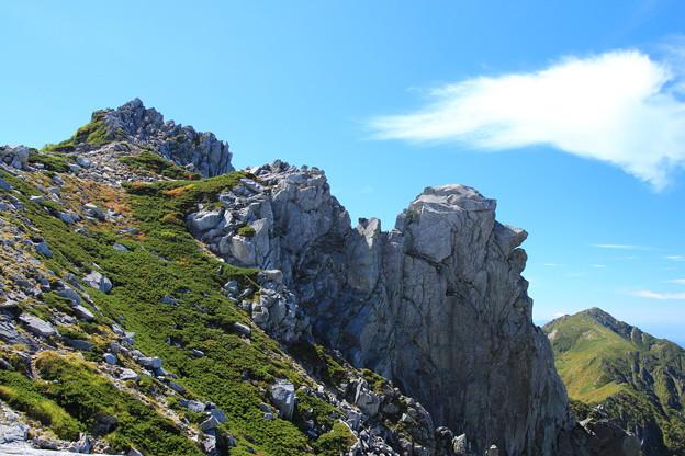 宝剣岳とモアイ岩