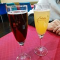 Photos: 食前酒(キールロワイヤル・ミモザ)。