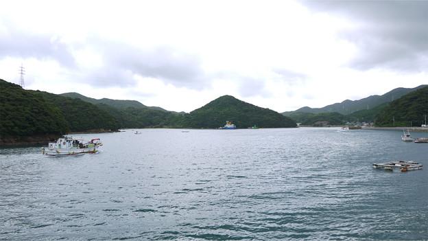 浦頭教会から堂崎教会へ向かう(戸岐湾かな・・・?)