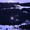 能登 岩磯から夕陽