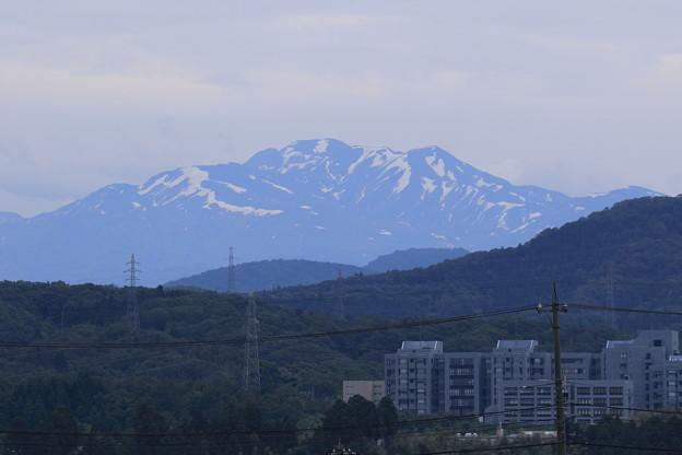 残雪の白山