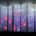 アートアクリウム 金魚と朝顔  稲妻 (金沢21世紀美術館)
