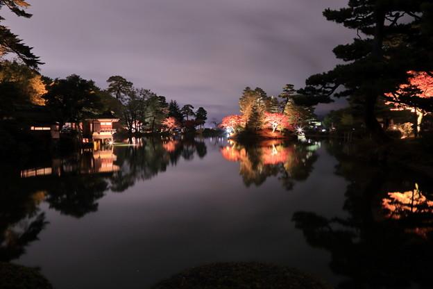 霞ヶ池  内橋亭と蓬莱島