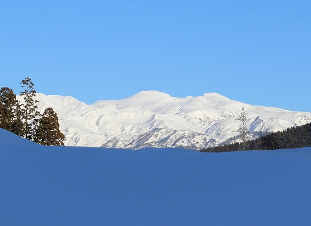 白山とブルーの湖?