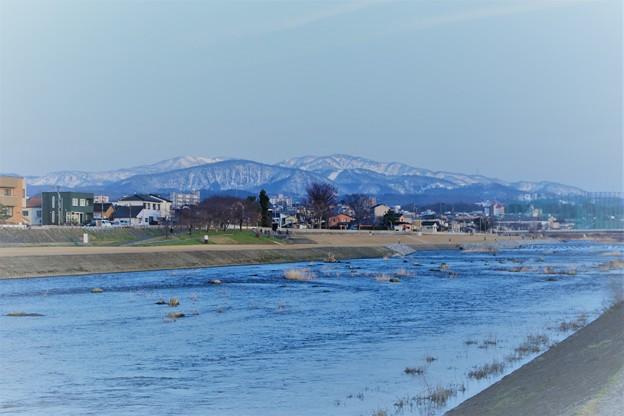 犀川と医王山