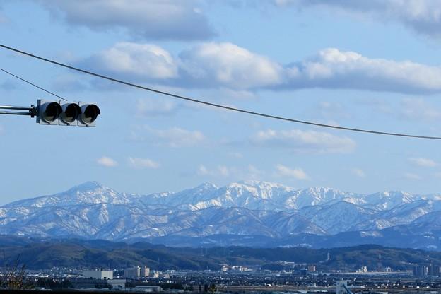 加賀富士(大門山 見越山 大笠山 奥三方山など) 河北潟から