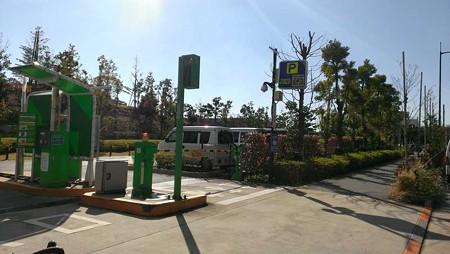 二子玉川公園 駐車場出入り口