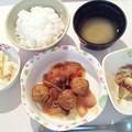 1月21日夕食(チキンボールのトマト煮) #病院食