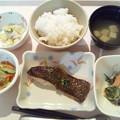 3月24日夕食(シルバーの甘味噌焼き) #病院食