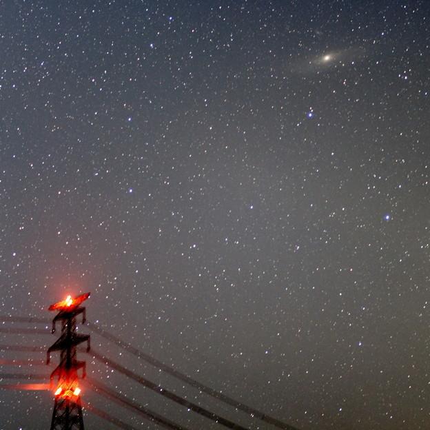 鉄塔とアンドロメダ銀河