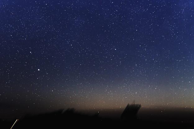 写真: アルタイルと本田・ムルコス・パイドゥシャーコヴァー彗星