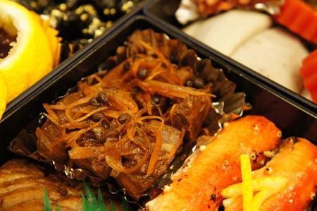 練馬山椒と鮪の角煮
