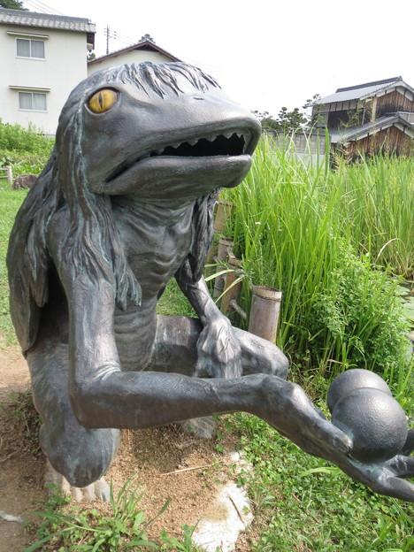 Photos: 池の傍で佇む河太郎(がたろう)