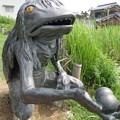 池の傍で佇む河太郎(がたろう)