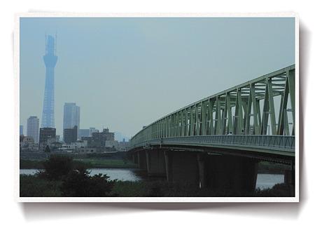 木根川橋とスカイツリー