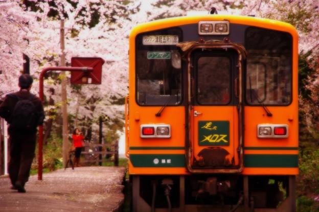 出発前の芦野公園駅・・20140501