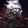 まるで浮かび上がる夜の弘前城・・20140501
