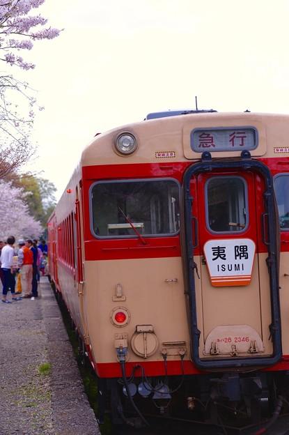 いすみ鉄道キハ28 国吉駅の出発前に。。。20160409