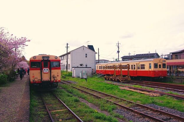 いすみ鉄道国吉駅。。いつかはこいつも。。キハ30とキハ28。。20160409