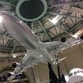 撮って出し。。成田の航空科学博物館 ボーイングのB747-400シュミレーター模型 6月26日
