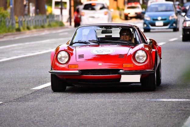 RALLY YOKOHAMA 名車 フェラーリDINO 246GTS。。20160521