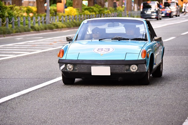 RALLY YOKOHAMA 名車 ポルシェ914  in山下公園