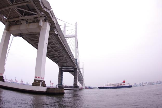横浜ベイブリッジをくぐって。。日本丸 横浜港 20160716
