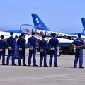 Photos: 撮って出し。。三沢基地航空祭 ブルーインパルスウォークダウン 9月11日
