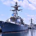 Photos: 米海軍横須賀基地バースにて改修工事駆逐艦マスティン。。20160806