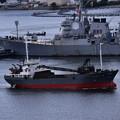 艦船以外にも作業船入港。。20160821