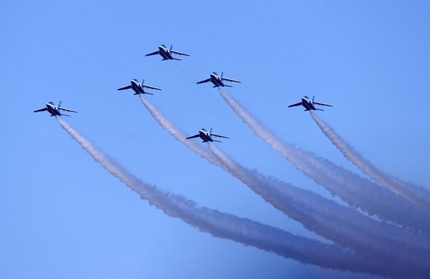 三沢基地航空祭で初披露。。ブルーインパルス フェニックス隊形。。
