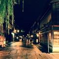 夜の静寂な金沢 ひがし茶屋街。。20160918