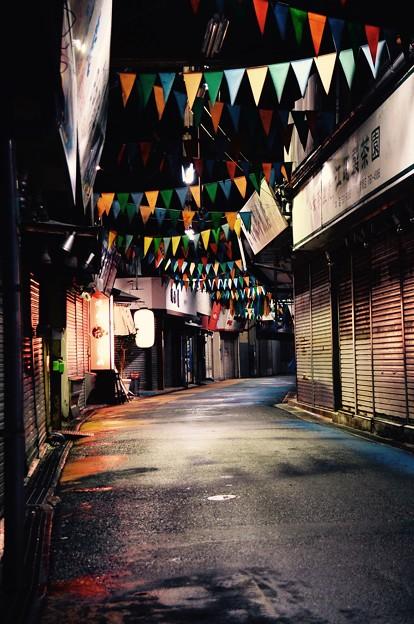 静寂な商店街。。福岡 柳橋連合市場 20161008