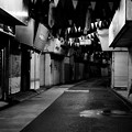 モノクロの風景。。福岡 柳橋連合市場 20161008