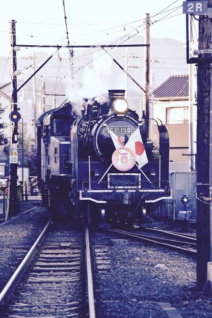 大井川鉄道SL。。元旦の運行終えて新金谷駅2番ホームへ。。20170101