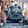 お正月飾りした大井川鉄道SL C108。。今度はこれを撮りたいね~ 20170101