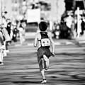 モノクロな光景。。箱根駅伝復路 第9区 駒沢大 最後の走り。。20170103