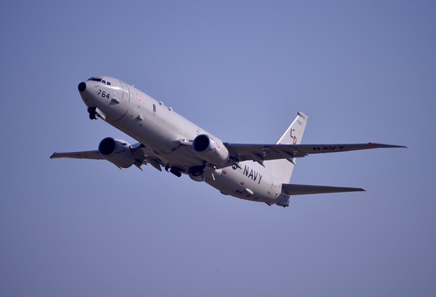 撮って出し。。今日の横田基地 米海軍の哨戒機LDのP-8ポセイドン飛来 1月22日