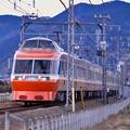 撮って出し。。昭和デビューのまだ主力小田急ロマンスカーLSE 7000系 2月11日