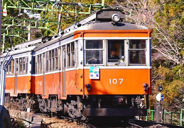 箱根登山鉄道モハ1形107号も見れた。。(笑)大平台駅 20170129