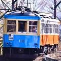 引退間近で見納め。。箱根登山鉄道モハ2形110号(^^)。。?カーブへ進むへ 20170129